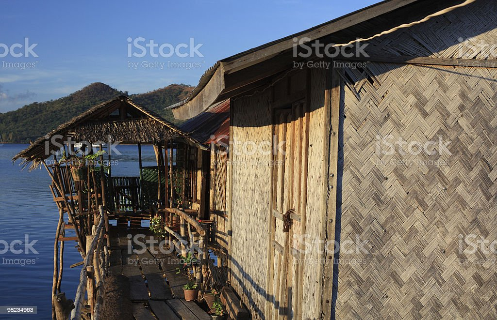 Bungalow tropicali foto stock royalty-free