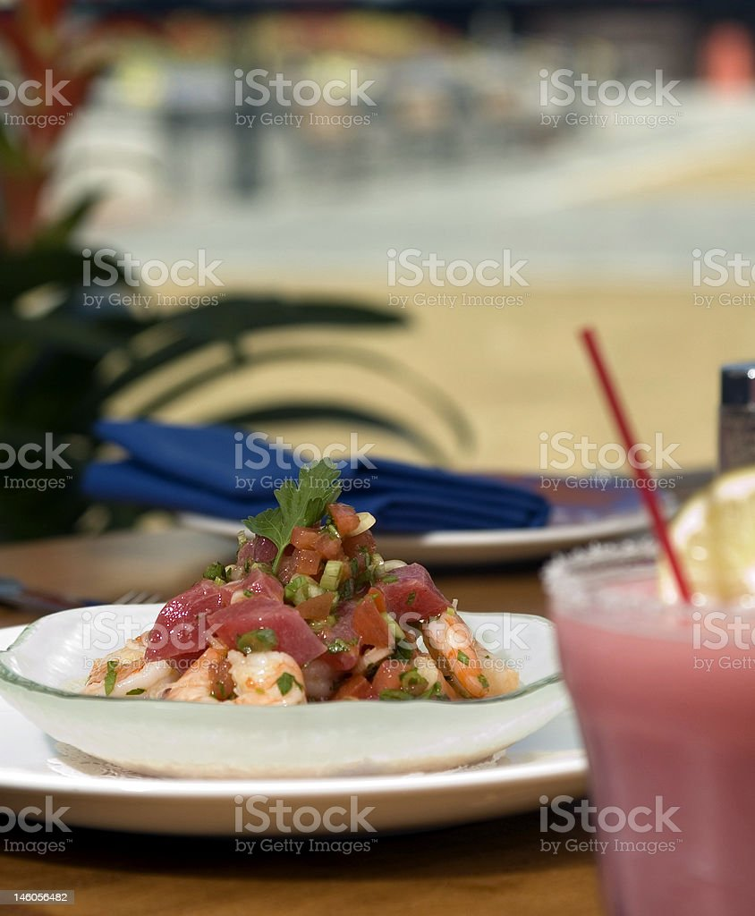 Tropical Ceviche royalty-free stock photo