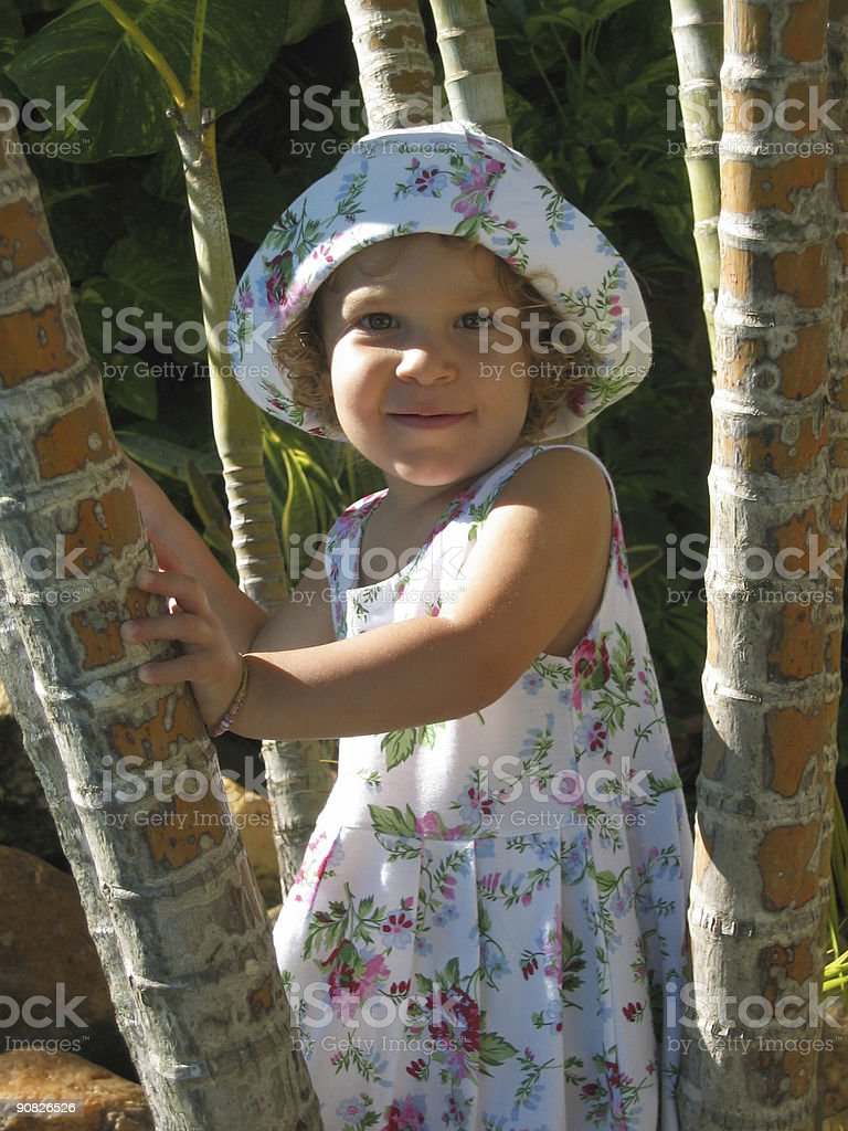 Tropical Child Portrait 1 royalty-free stock photo
