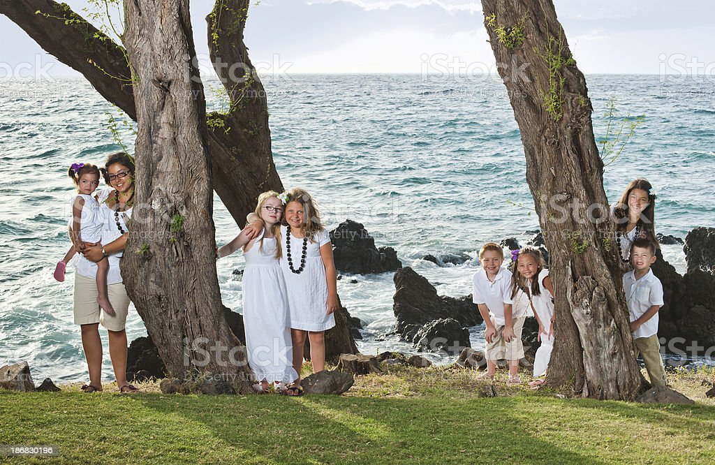 Tropical Children royalty-free stock photo