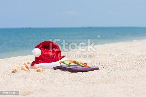 500536141istockphoto Tropical Christmas on a sandy beach 523892319