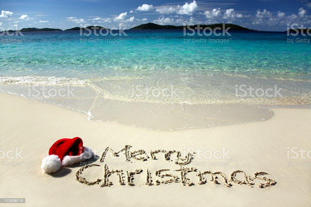 Tropical Christmas royalty-free stock photo