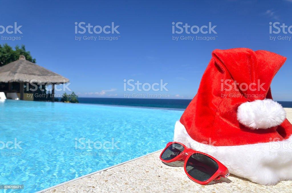 Christmas Vacations.Tropical Christmas Vacations Stock Photo Download Image
