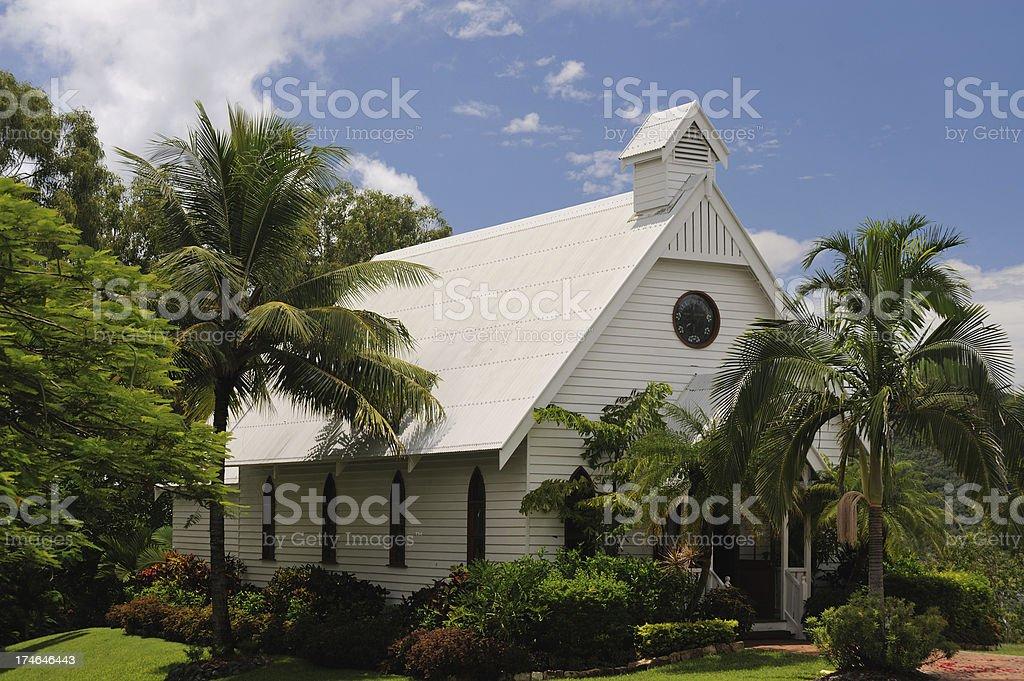 Tropical Church royalty-free stock photo