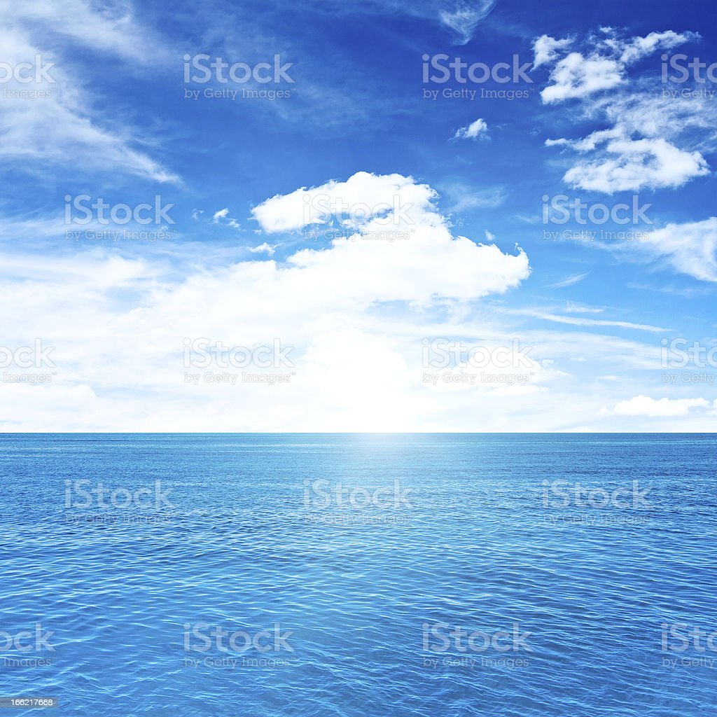 Tropical clouds and sea royalty-free stock photo