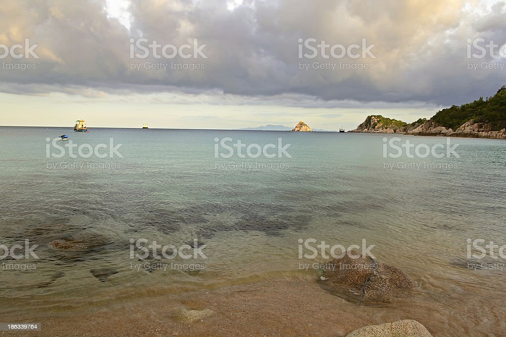 Tropical cloudscape at sunset royalty-free stock photo