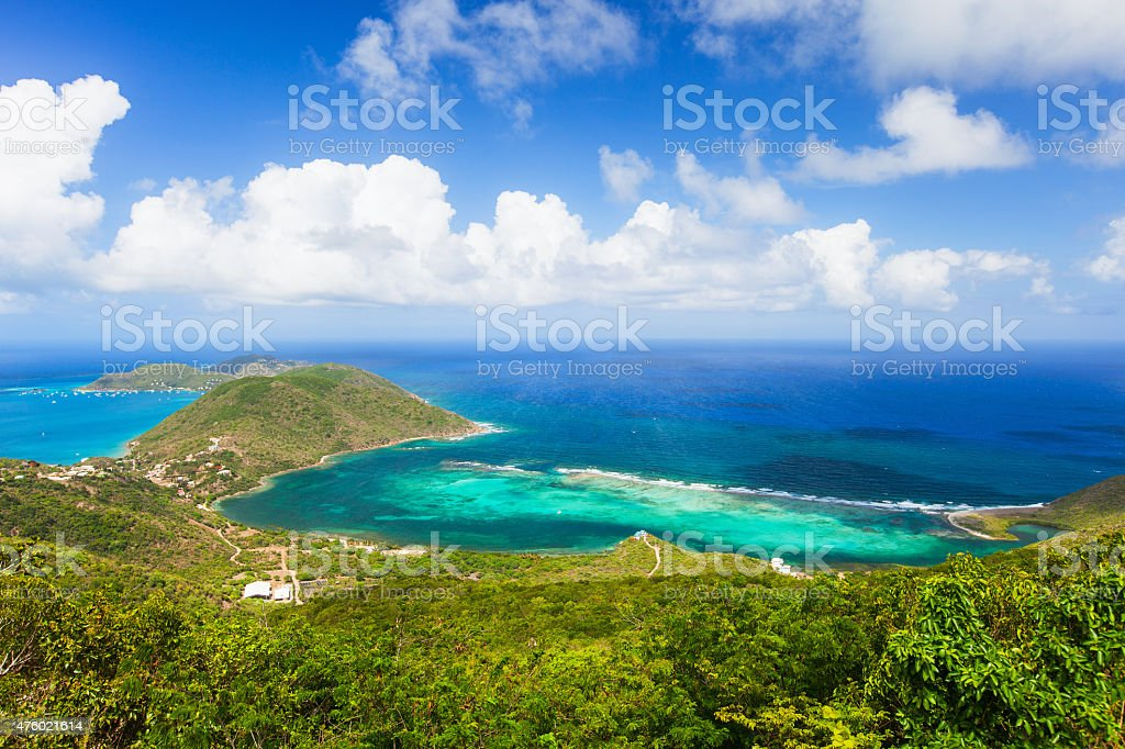 Tropical coast aerial stock photo