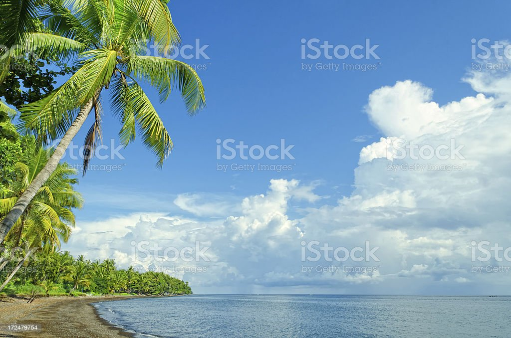 tropical coast in North Bali royalty-free stock photo