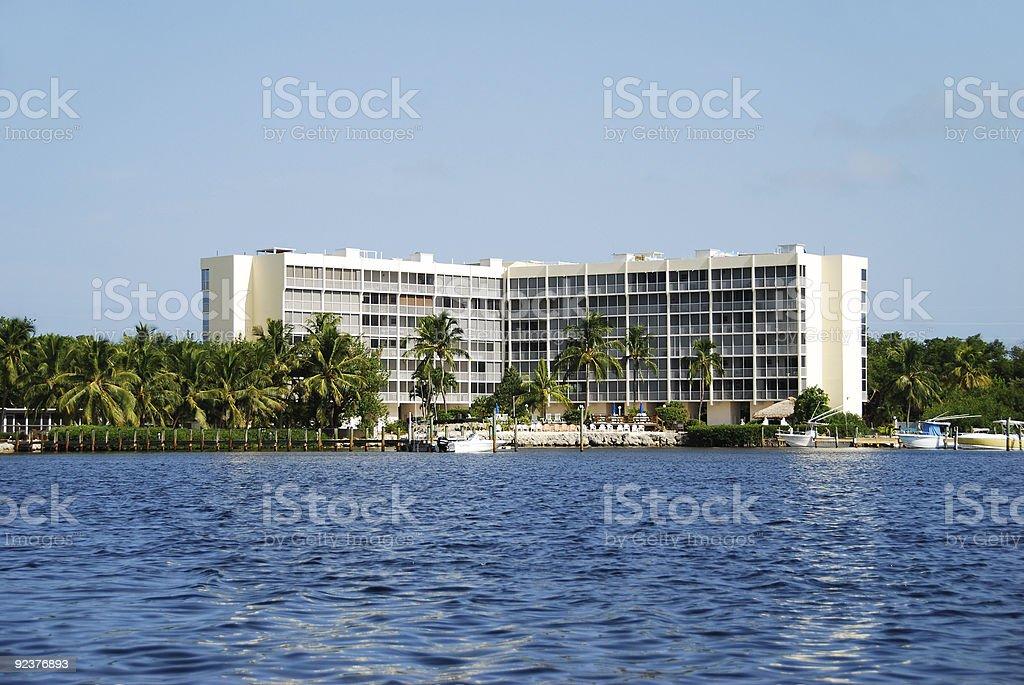 Tropical coastal resort royalty-free stock photo