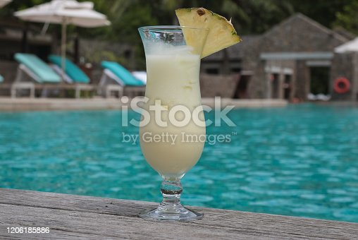 Tropical Cocktail by the Pool
