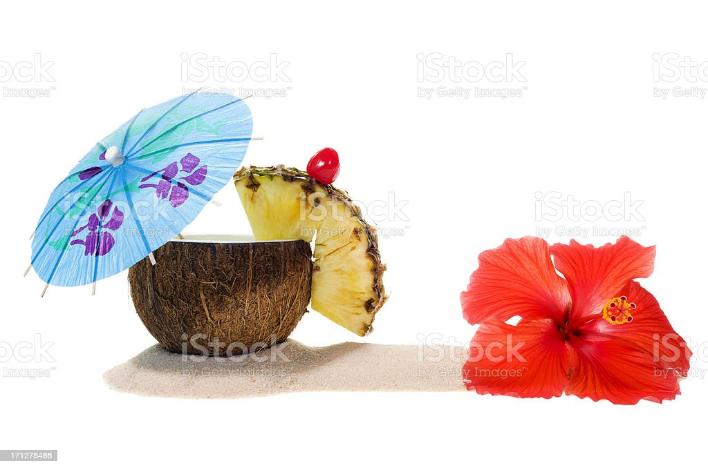 Tropical Coconut Drink royalty-free stock photo