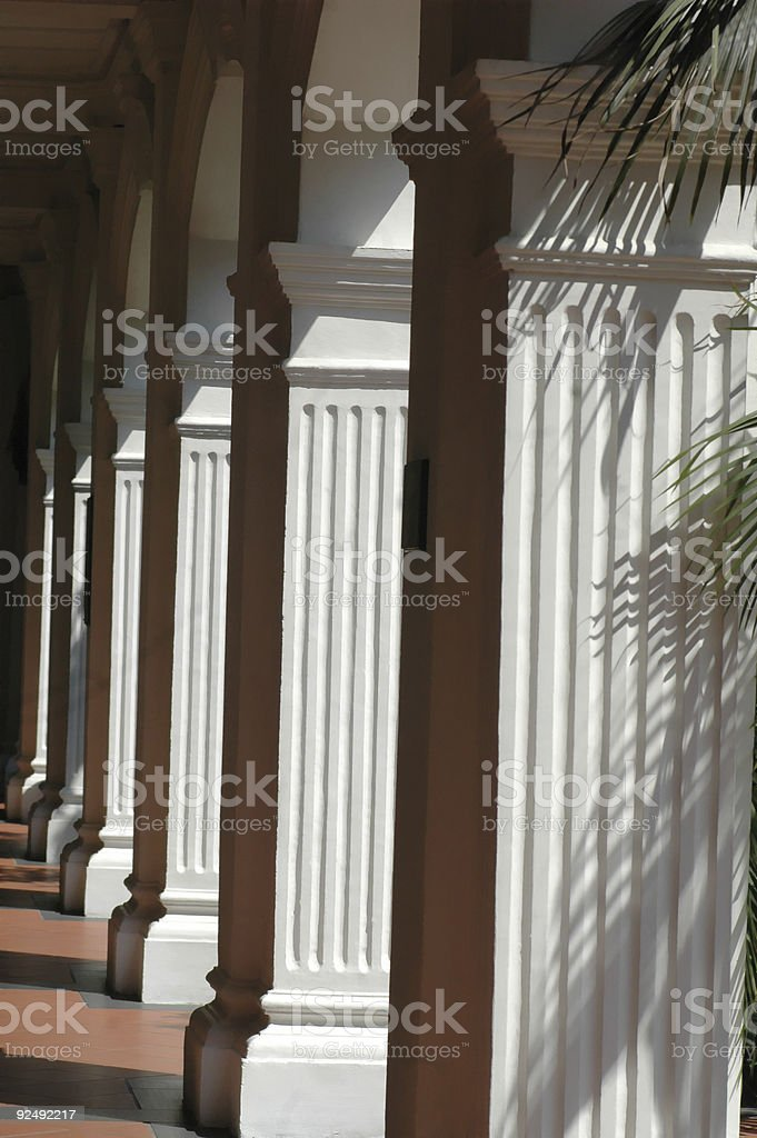Tropical Columns royalty-free stock photo