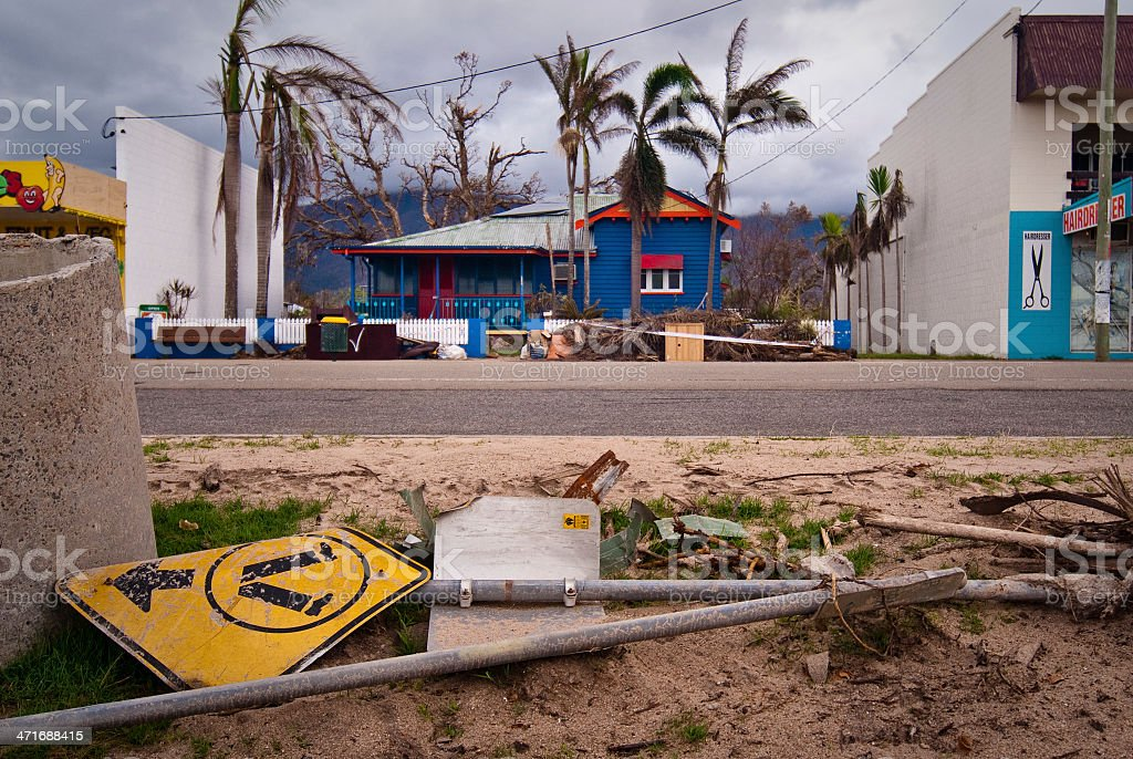 Tropical cyclone damage in Australia royalty-free stock photo