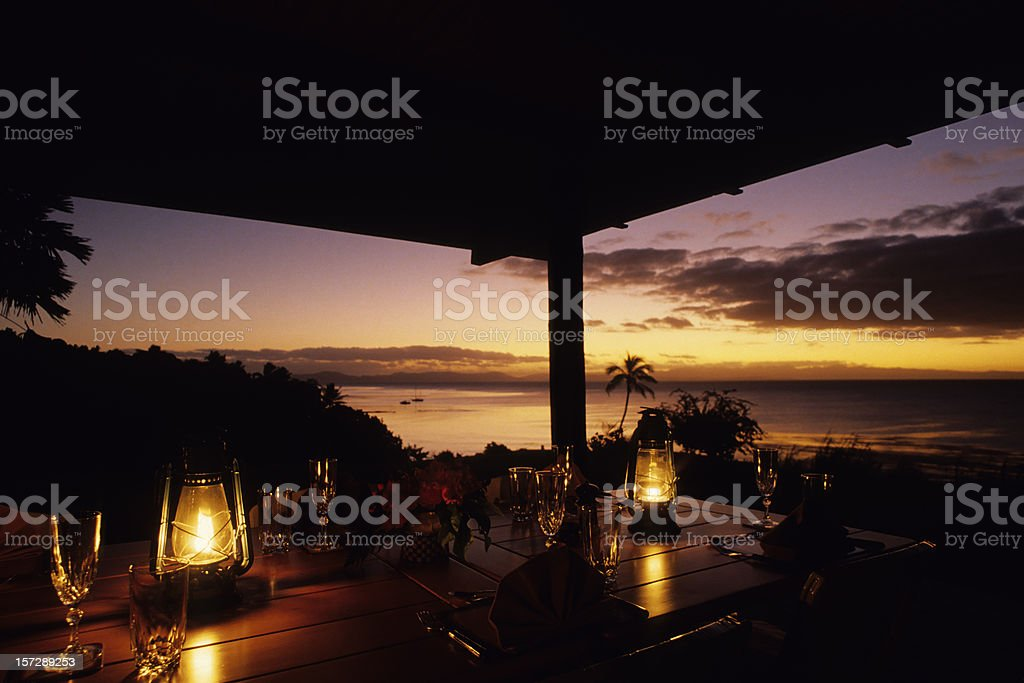 Tropical Dining stock photo