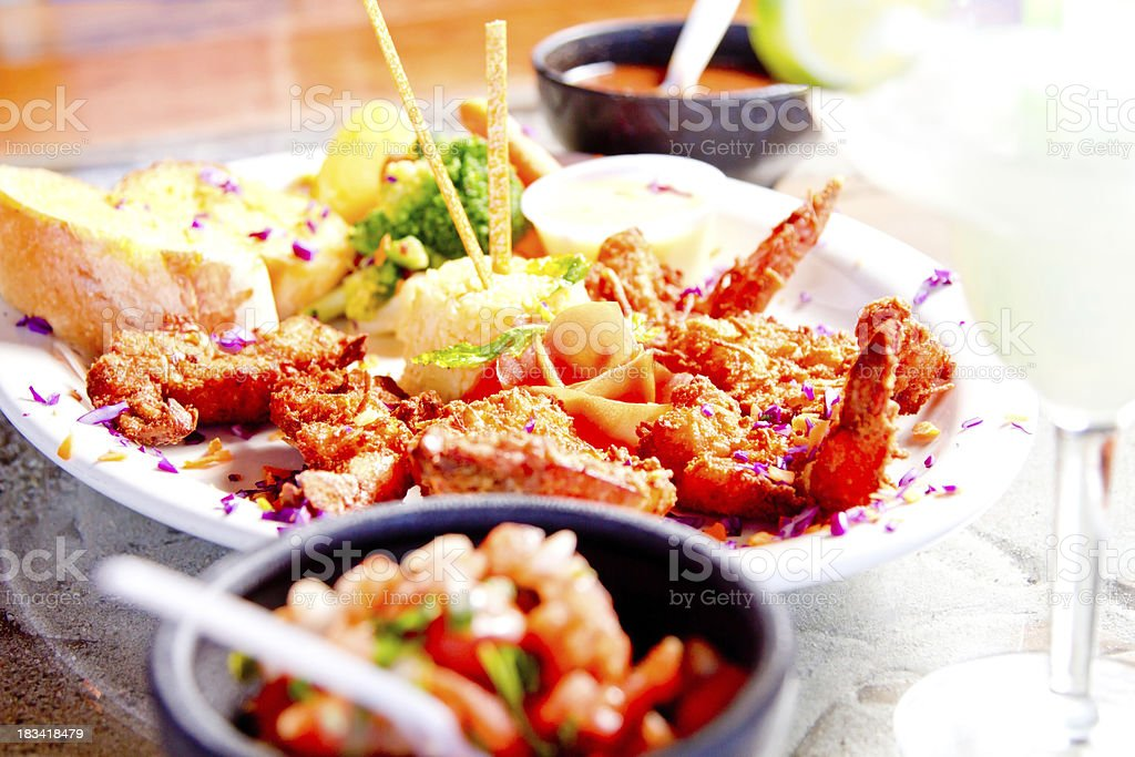 Tropical dinner royalty-free stock photo