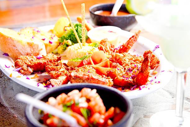 Tropical dinner stock photo