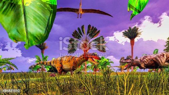 istock Tropical dinosaur park 494831510