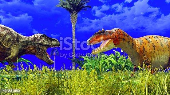 istock Tropical dinosaur park 494831550