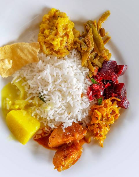 tropical dish stock photo