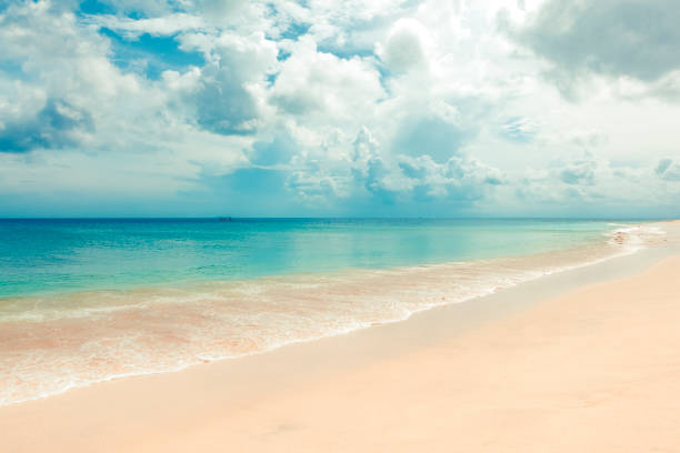 tropical dream beach, uluwatu, bali island, indonesia stock photo