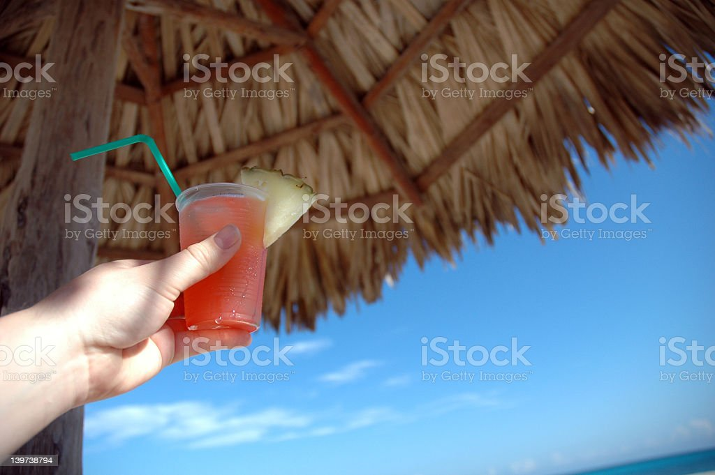 Tropical drink in Cuba royalty-free stock photo