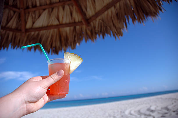 Tropical drink in Cuba stock photo
