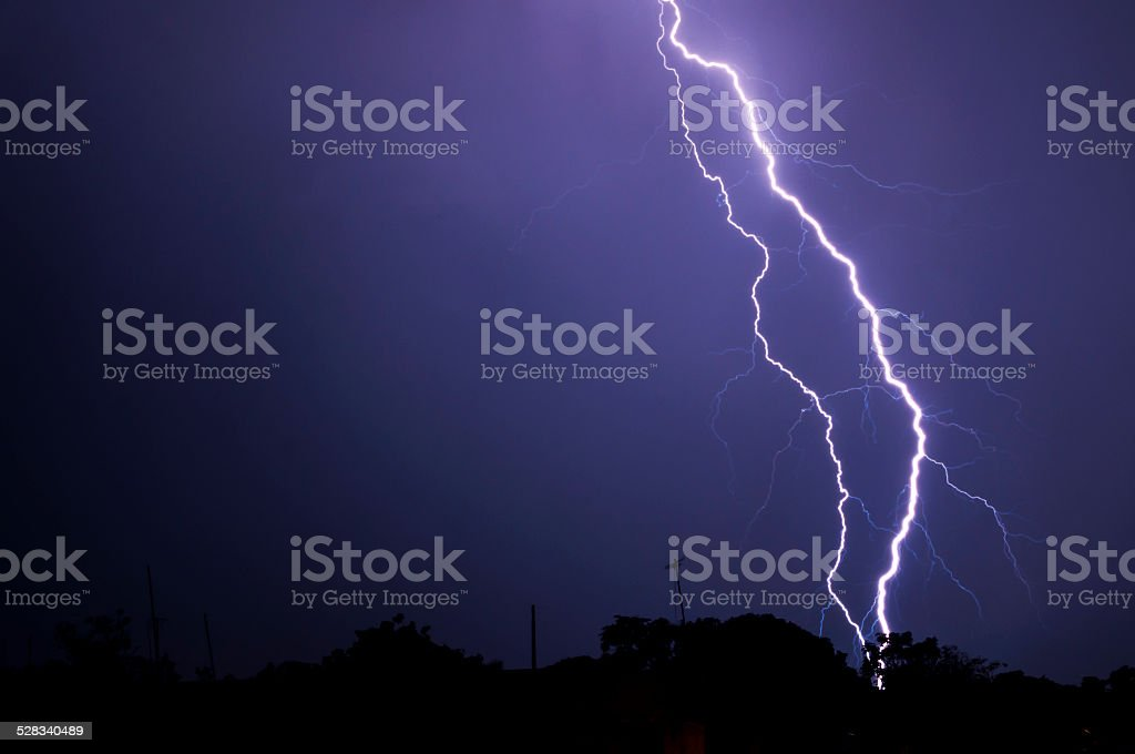 Tropical electric storm stock photo