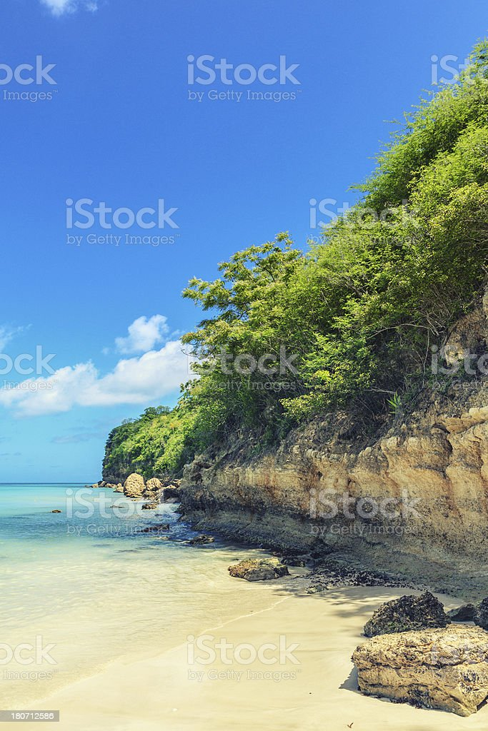 Tropical Empty Beach royalty-free stock photo
