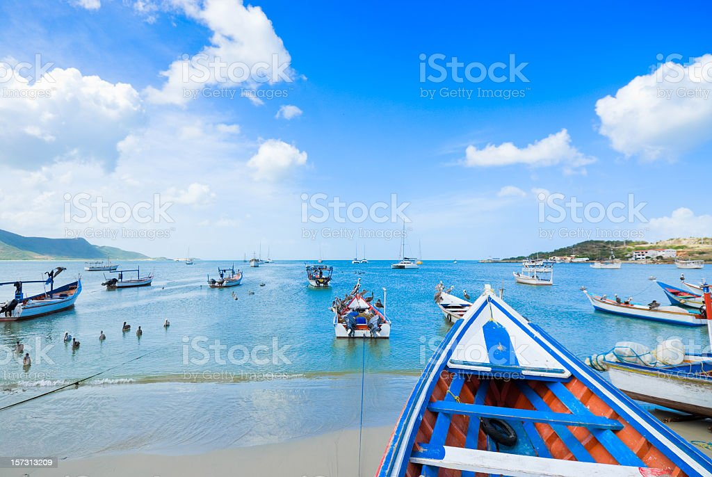 Tropical Fisherman's bay stock photo