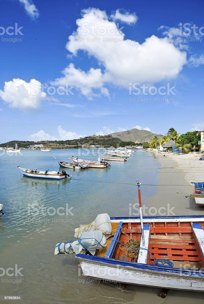 Tropical Fisherman's bay royalty-free stock photo