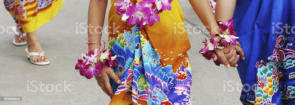 Tropical friendship royalty-free stock photo