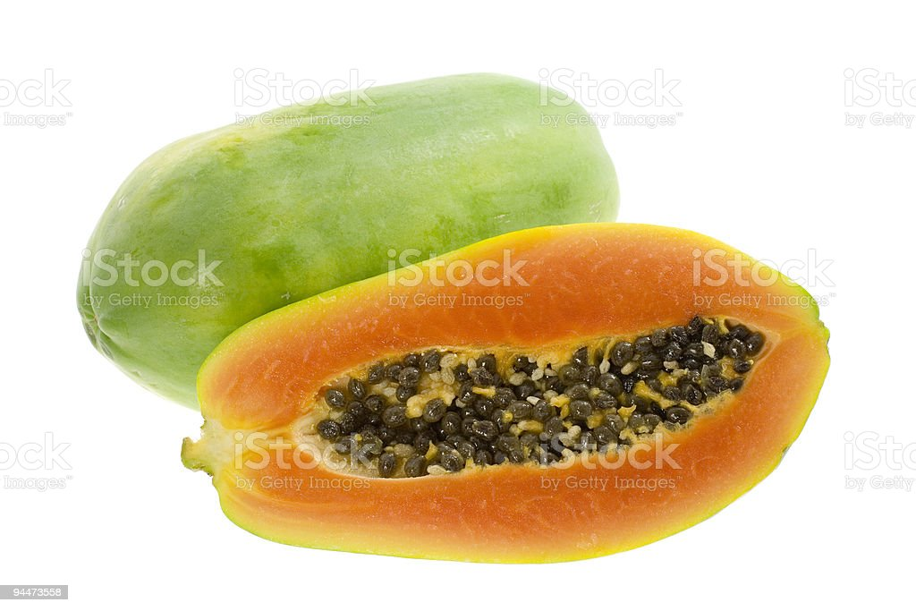 Tropical fruit - Papaya royalty-free stock photo