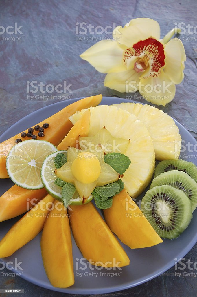 Tropical Fruit Plate royalty-free stock photo