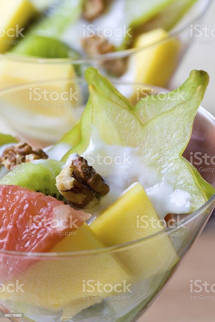 열대 과일 샐러드 royalty-free 스톡 사진