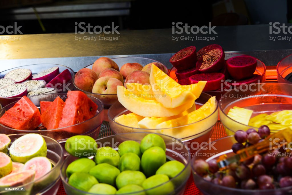 Tropical Fruits In A Fruit Salad Store Stock Photo Download Image Now Istock
