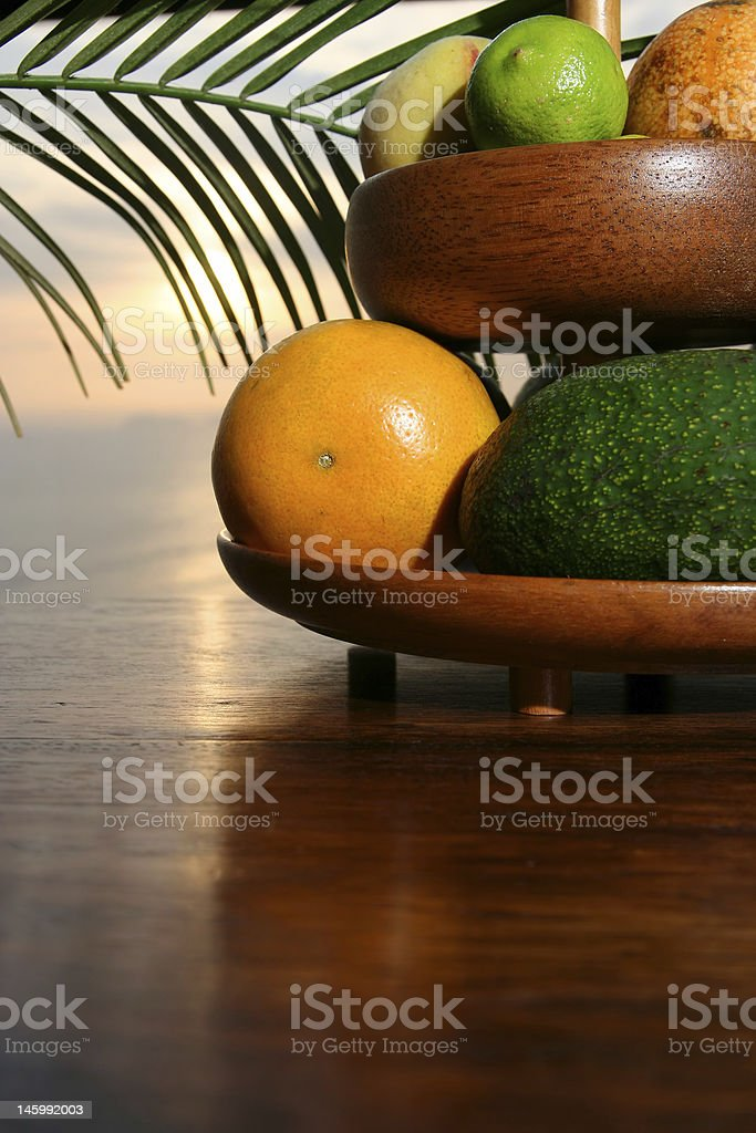 Tropical fruits (up) royalty-free stock photo