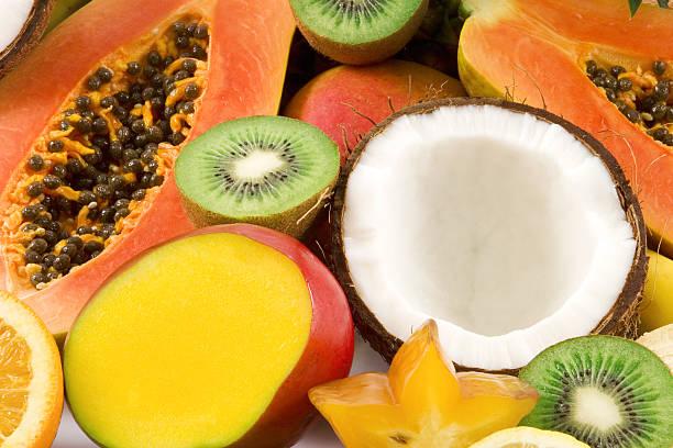 열대 과일을 - 열대 과일 뉴스 사진 이미지