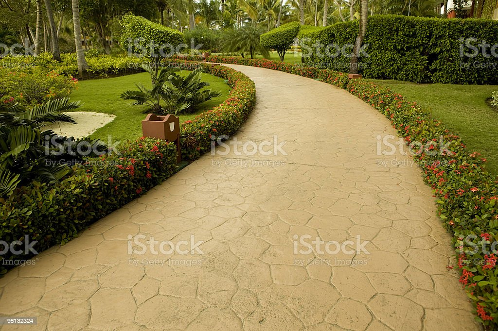 Tropical Garden Path royalty-free stock photo