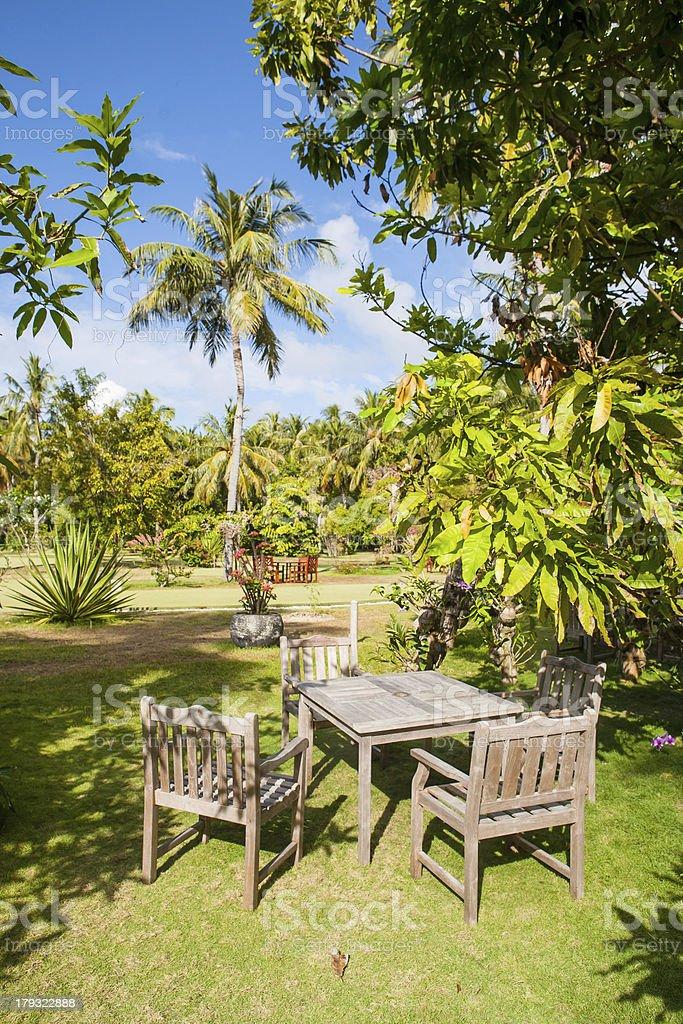 Tropical Garden Restaurant Stock Photo Download Image Now Istock