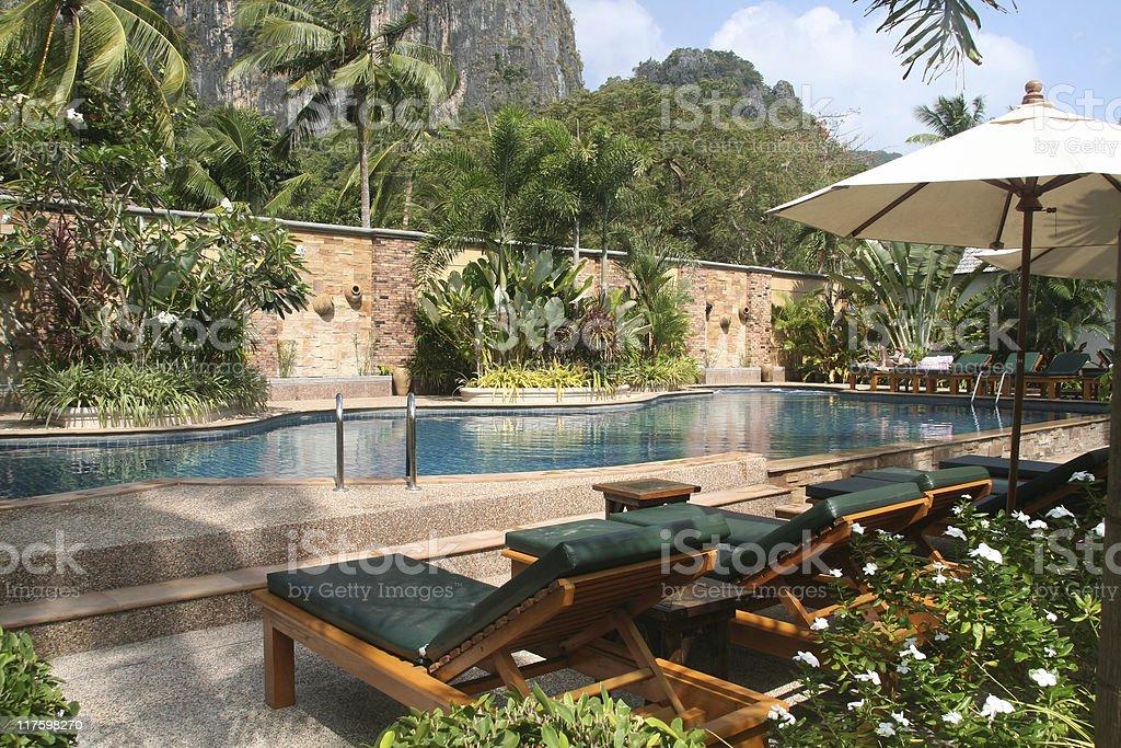 Tropical getaway stock photo