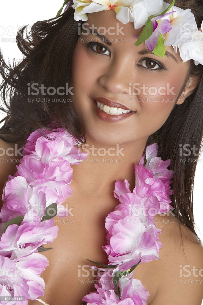 Tropical Lei Girl royalty-free stock photo