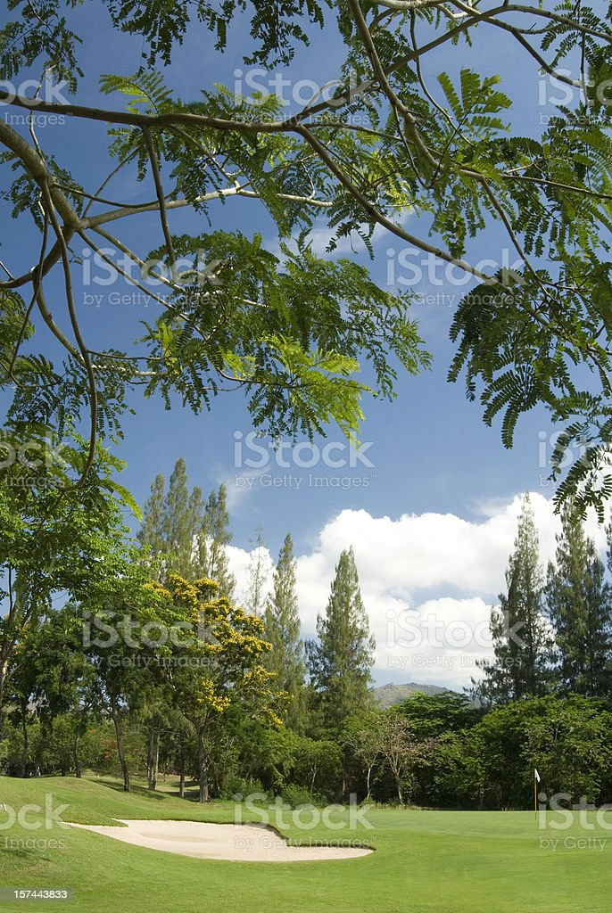 Tropical golf course in Thailand royalty-free stock photo