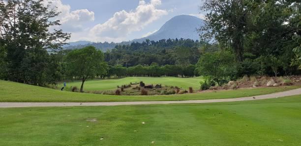 Tropical Golf Course stock photo