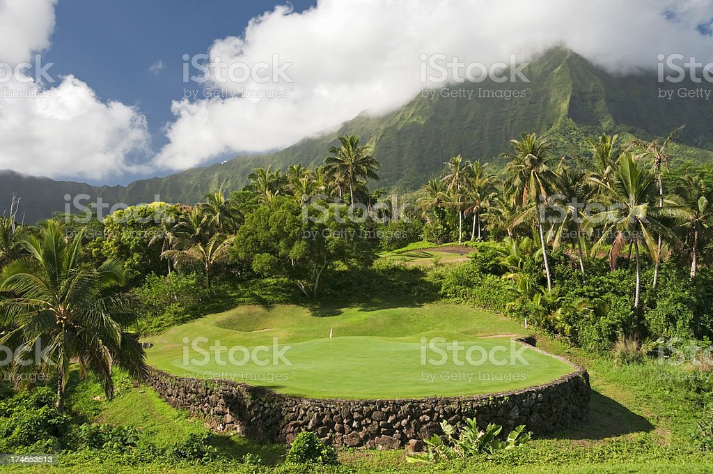Tropical Golf (Hawaii) stock photo