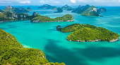Tropical group of islands in Ang Thong National Marine Park