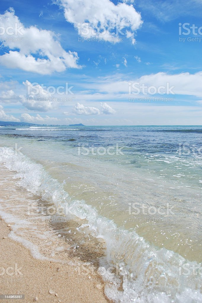 Tropical Hawaiian Beach royalty-free stock photo