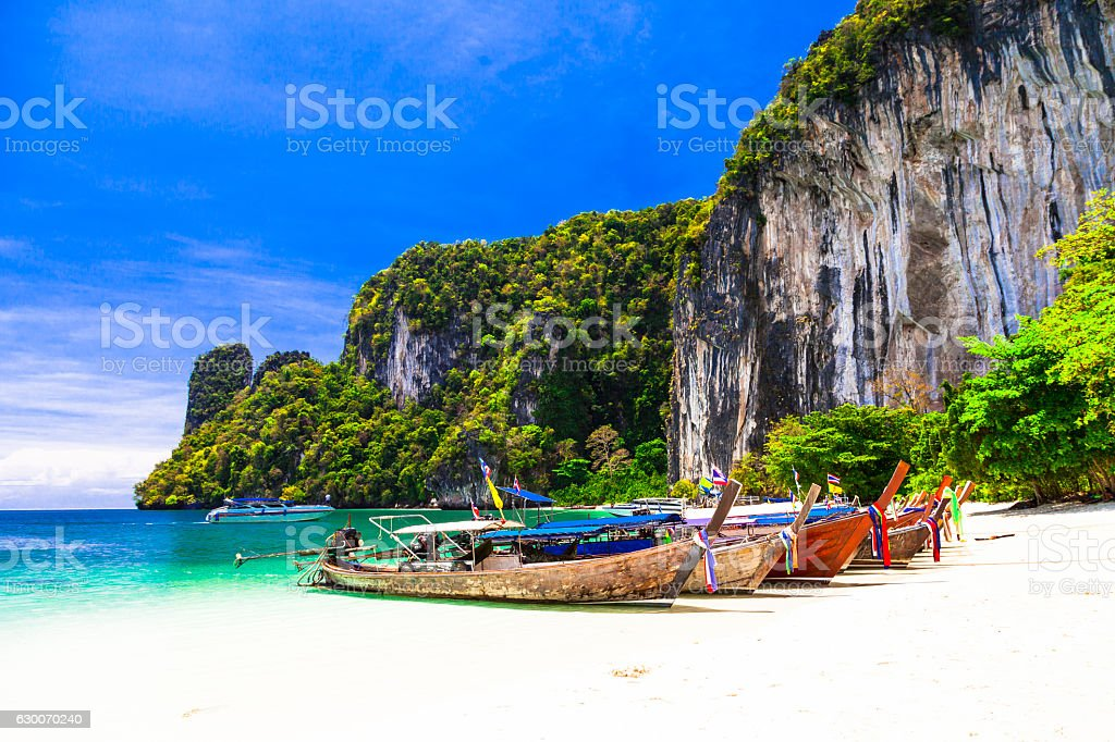 tropical holidays - amazing beaches of Thailnad, Krabi stock photo