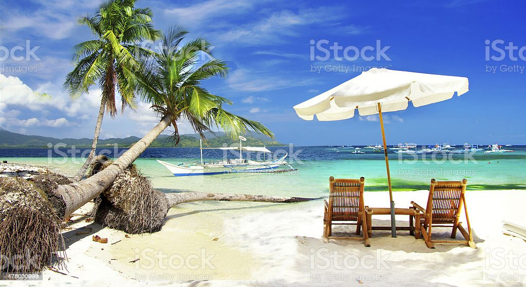 tropical holidays stock photo