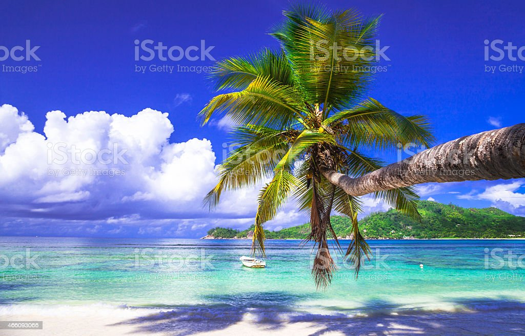 Tropical Holidays,Mahe,Seychelles stock photo