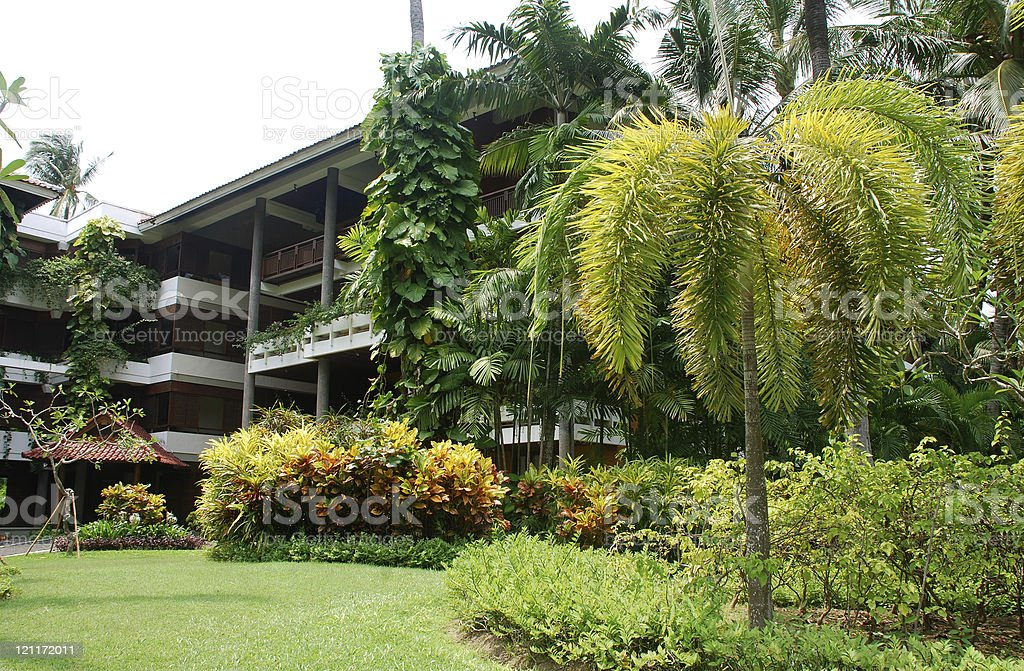 Tropical hotel resort in Bali, Indonesia royalty-free stock photo